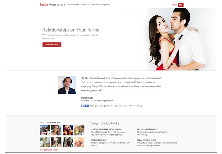 Seeking Arrangement.com website